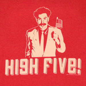 borat_high_five_red_shirt