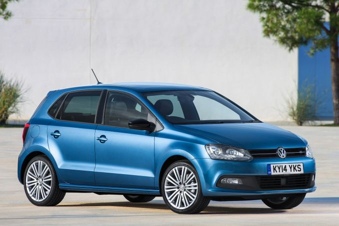 vw polo blue silk