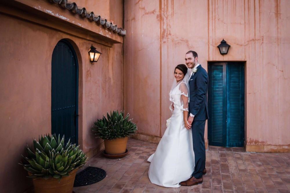 jeroen en alexandra, het bruidspaar