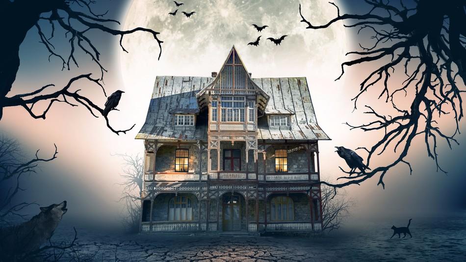 een spookhuisje
